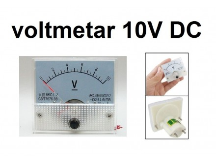Voltmetar DC 10 V - analogni