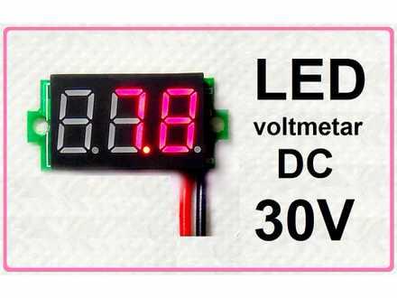 Voltmetar DC 3.2 - 30 V crveni displej