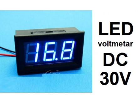 Voltmetar DC 3.2 - 30 V plavi displej