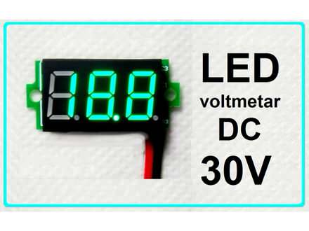 Voltmetar DC 3.2 - 30 V zeleni displej