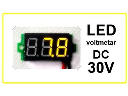 Voltmetar DC 3.2 - 30 V zuti displej