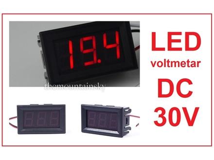 Voltmetar DC 30 V crveni displej