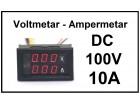 Voltmetar i Ampermetar DC 100V i 10A crveni displej