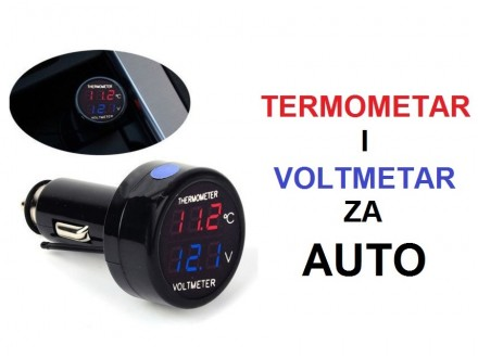 Voltmetar i termometar za upaljac u kolima