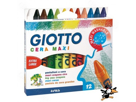 Voštane boje Fila Giotto cera maxi 12kom 291200 - Novo