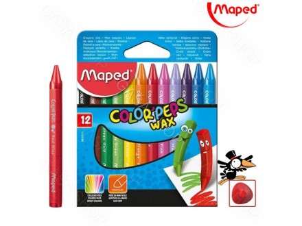 Voštane boje Maped Color Peps 1/12 Art. 861011 - Novo