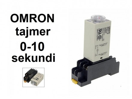 Vremenski rele - tajmer - 0-10 sekundi - 220VAC - OMRON