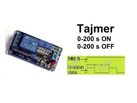Vremenski rele - tajmer - 0-200 x 2 sekundi