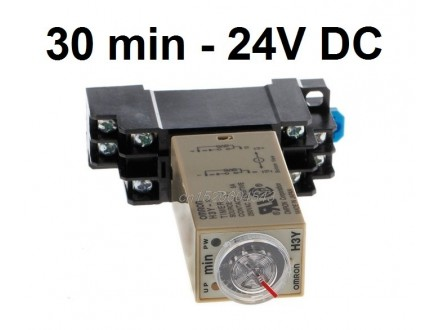 Vremenski rele - tajmer - 0-30 min - 24VDC - OMRON