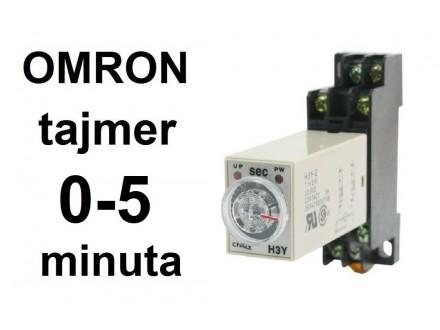 Vremenski rele - tajmer - 0-5 minuta - 220VAC - OMRON