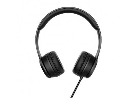 W21 Graceful charm wire control headphones Black