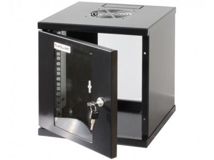 Wallmount Cabinet 6U Rek orman 10` 300d crni