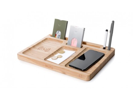 Walter Bamboo Double Dock Wireless charger