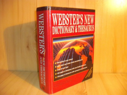 Webster`s new dictionary thesaurus
