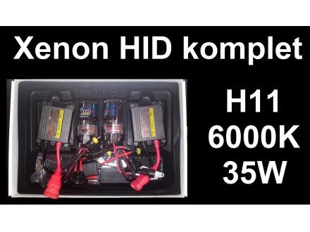 Xenon H11 komplet - HID - 6000K - 35W