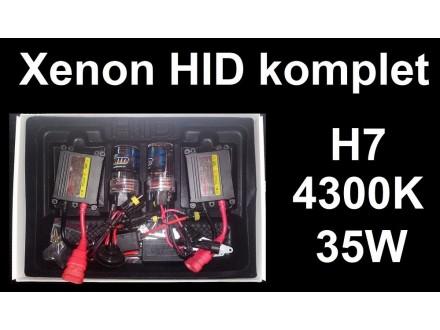 Xenon H7 komplet - HID - 4300K - 35W