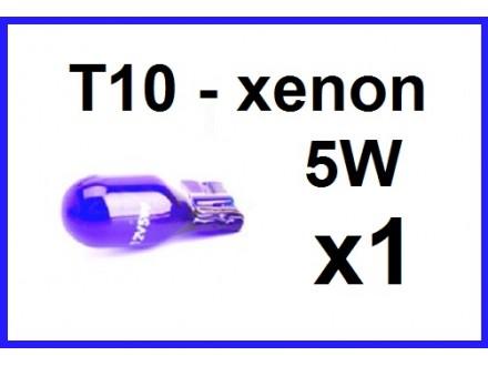 Xenon T10 sijalica - PLAVA NOVO!!! - 1 komad