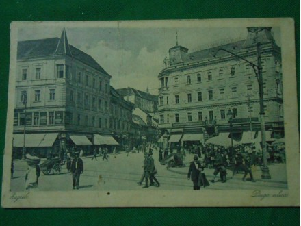 ZAGREB-JELAČIĆEV TRG I DUGA ULICA-stara razglednica