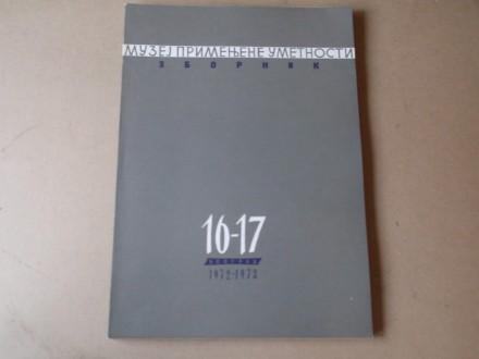 ZBORNIK MUZEJ PRIMENJENE UMETNOSTI broj 16-17