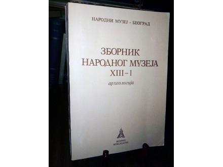 ZBORNIK Narodnog muzeja XIII-1: Arheologija