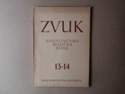 ZVUK JUGOSLOVENSKA MUZIČKA REVIJA 13 - 14