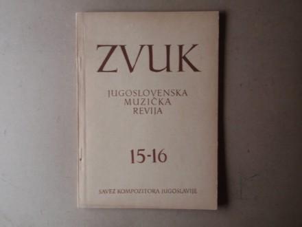 ZVUK JUGOSLOVENSKA MUZIČKA REVIJA 15 - 16