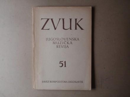 ZVUK JUGOSLOVENSKA MUZIČKA REVIJA 51