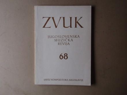 ZVUK JUGOSLOVENSKA MUZIČKA REVIJA 68