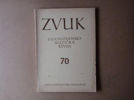 ZVUK JUGOSLOVENSKA MUZIČKA REVIJA 70