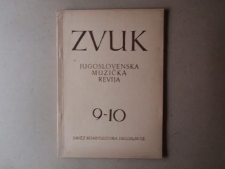 ZVUK JUGOSLOVENSKA MUZIČKA REVIJA 9 - 10