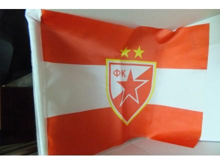 Zastava FK CRVENA ZVEZDA za automobil 43x30 cm