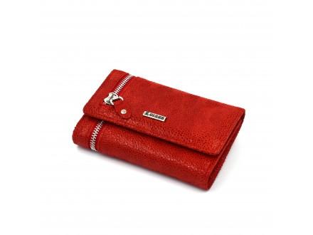 Ženski kožni novčanik - Model 236 Tačkasto crvena