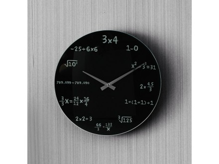Zidni sat - MATEMATIČKI SAT 35cm