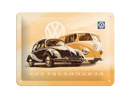Znak, 15x20 Vw Beetle Bulli - Nostalgic Art
