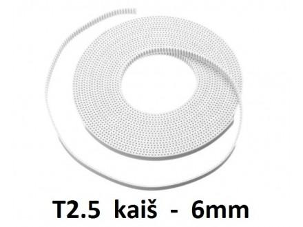 Zupcasti kais za CNC projekte T2.5 6mm - 1m
