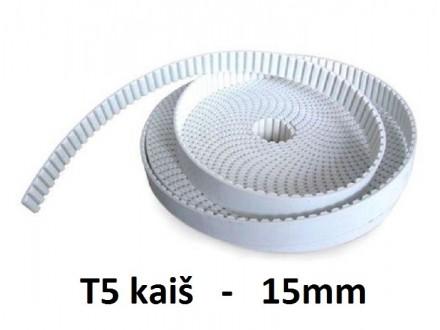 Zupcasti kais za CNC projekte T5 15mm - 1m