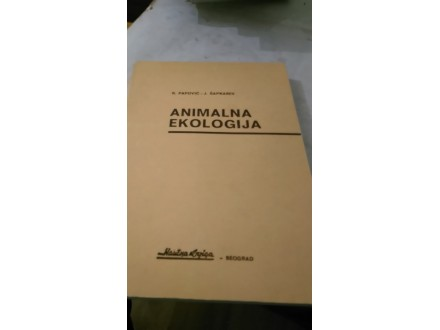 animalna ekologija papovic sapkarev