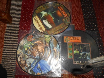cruachan - a celtic trilogy 3xlp,pic.disc MINT !!!