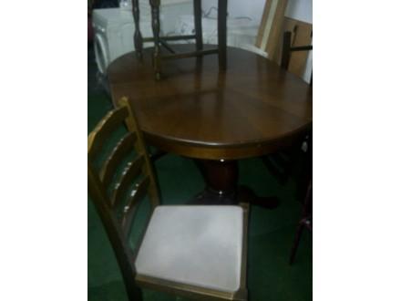 drveni sto sa 6 stolica
