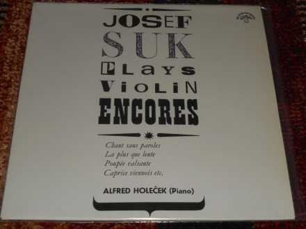 josef suk - plays violin encores (češka) MINT !!!