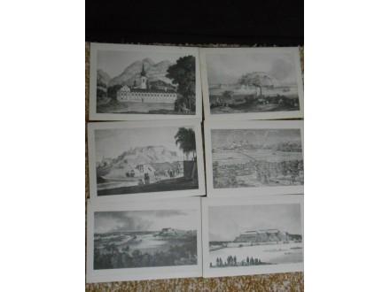 litografija:NOVI SAD, PETROVARADIN,RAKOVAC XIX.v:25 x17