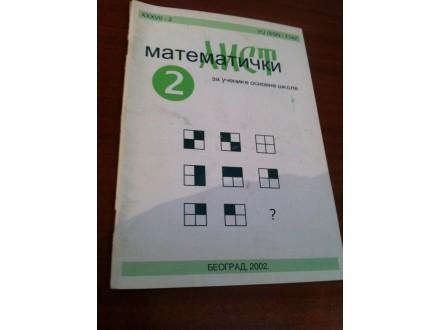 matematicki list 2 2002.