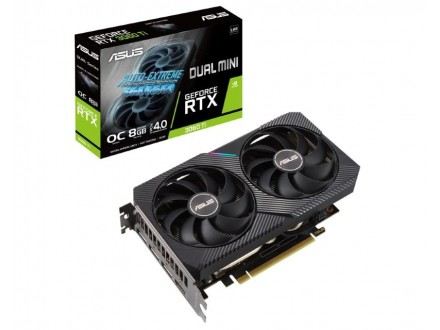 nVidia GeForce RTX 3060 Ti 8GB 256bit DUAL-RTX3060TI-O8G-MINI-V2 LHR
