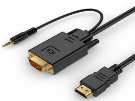 x-A-HDMI-VGA-03-10M Gembird HDMI to VGA and audio adapter cable, single port, 10m, black