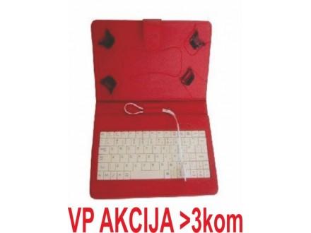 x-TA-PCK7-RED ** Gembird US Tastatura za 7` Tablet PC sa futrolom ,sa micro USB konektorom(469)