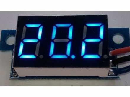 ♦ Minijaturni voltmetar DC 0-99.9V plave boje ♦