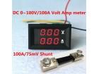 ♦ Volt-Ampermetar 0-100V 0-100A sa sentom ♦