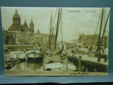 Amsterdam-P.H.kade Schiffe am Bahnhof/XXVII-148/