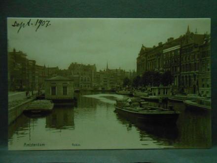 Amsterdam, Rokin, Bad-Inrichting, Nederlandsche Bank/X