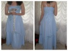 Azurno plava venčanica ili svečana haljina-novo AKCIJA
